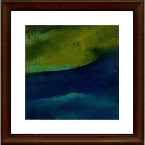 Idill, absztrakt festmény, vászon.