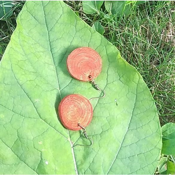 Fa ékszer, környezetbarát, újrahasznosított fa, uszadékfa, fülbevaló, környezettudatos ékszer