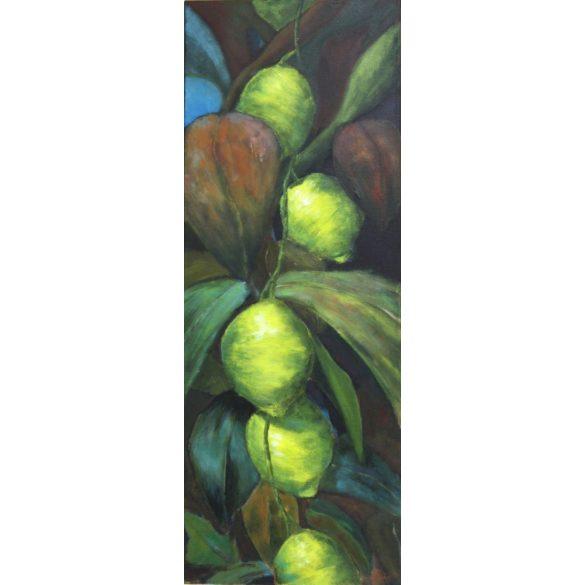 Citromfa, vászonra festett csendélet,