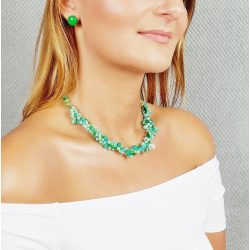 """""""Édes Cha-cha-cha"""""""" ékszer, nyaklánc, ásvány, amazonit, zöld"""