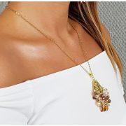 """""""Hamupipőke Tánca"""", nyaklánc, ékszer, ajándék nőknek, egyedi, kézműves, kristály, hematit, arany"""
