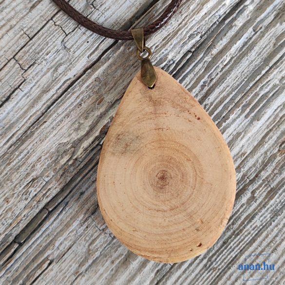 Uszadékfa medál, nyaklánc, újrahasznosított, környezetbarát, öko ékszer, Fácska