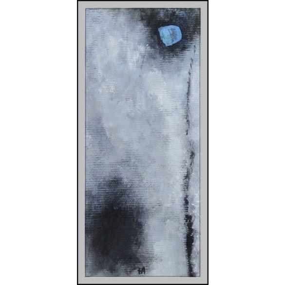 Holdlámpa, absztrakt festmény, vászon.