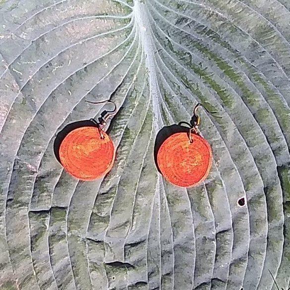 Környezetbarát, újrahasznosított fa, uszadékfa, fülbevaló, környezettudatos ékszer