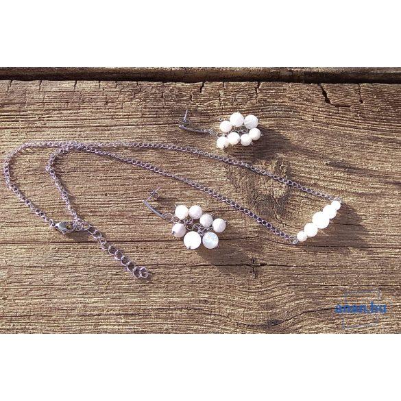 Holdkő, ásvány, nyaklánc, minimalista, antiallergén, nemesacél, ékszer