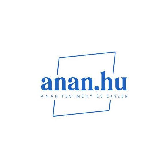 Ezüst fülbevaló, mustárszín kerámia gyöngy, ezüstszínű hematit gyöngy, ezüstszínű fémszerelék