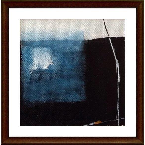 Gémeskút, absztrakt festmény, vászon.