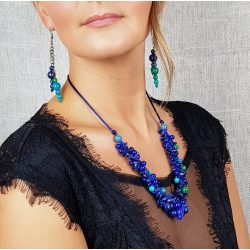 Antiallergén ékszer, lápisz lazuli, krizokolla, jade, egyedi, nyaklánc
