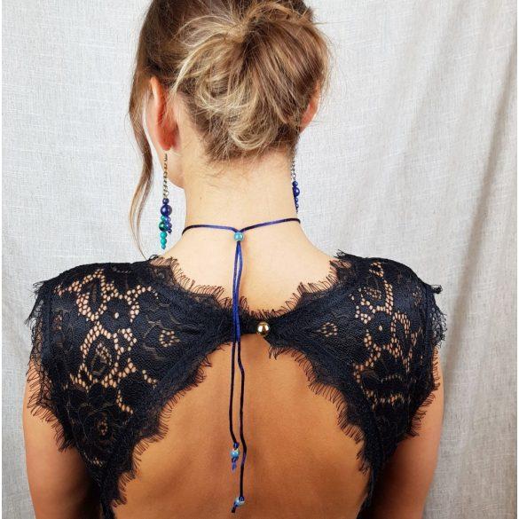 Antiallergén ékszer, lápisz lazuli, krizokolla, jade, ásvány,  nyaklánc