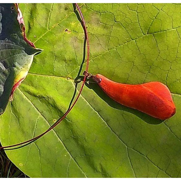 Környezetbarát, újrahasznosított fa, uszadékfa, medál, nyaklánc, rozsdamentes, környezettudatos ékszer