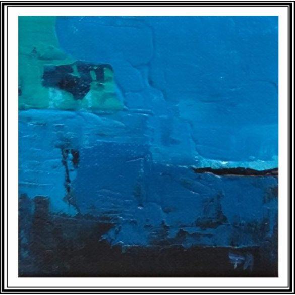 Víz alatti világ, absztrakt festmény, vászon.