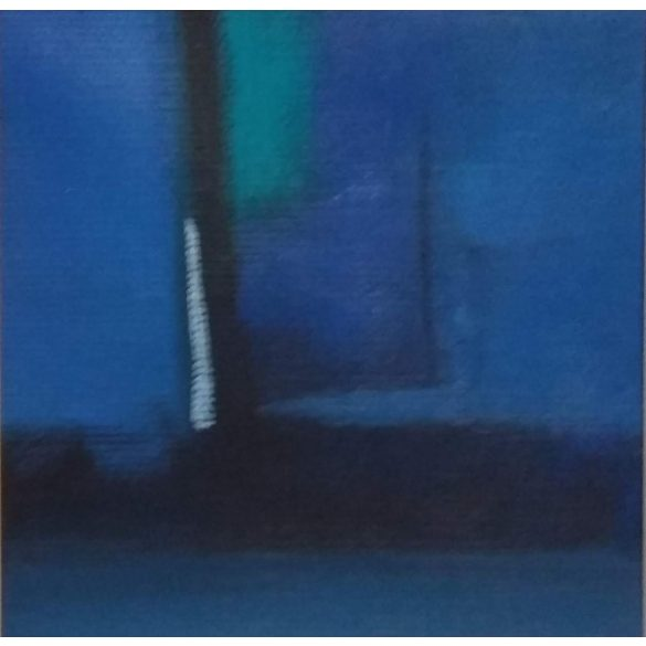 Esti fényjáték, absztrakt festmény, vászon